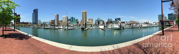 Photograph - Baltimore Inner Harbor Panorama by Carol Groenen