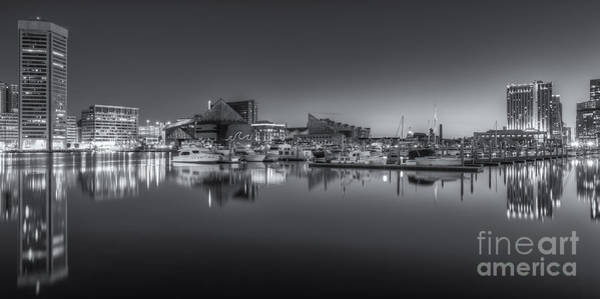 Photograph - Baltimore Inner Harbor Skyline At Dawn Panoramic Iv by Clarence Holmes