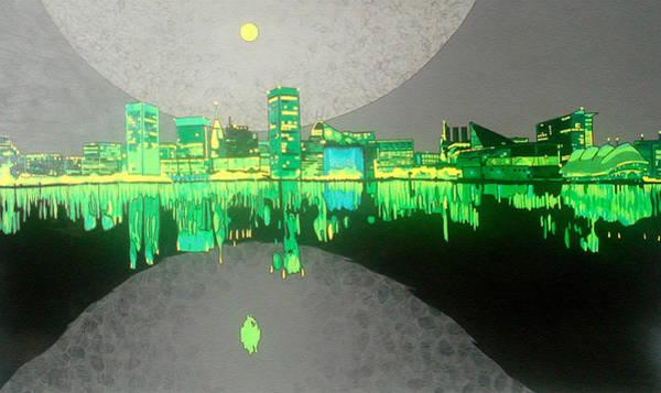 Dark Green Painting - Baltimore by Jason Charles Allen