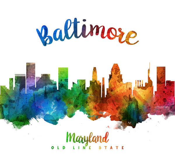 Wall Art - Painting - Baltimore Maryland 25 by Aged Pixel