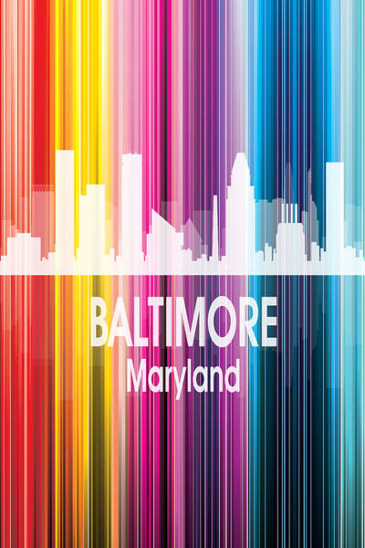 Wall Art - Digital Art - Baltimore Md 2 Vertical by Angelina Tamez