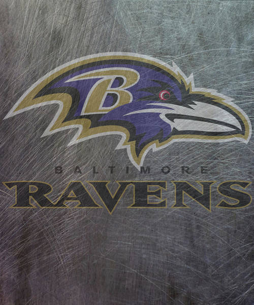 Mixed Media - Baltimore Ravens Translucent Steel by Movie Poster Prints