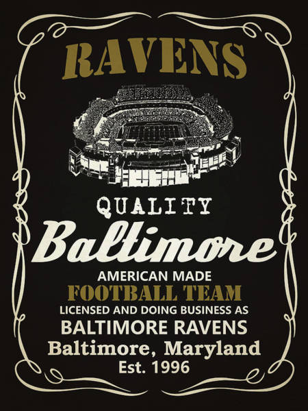 Whiskey Mixed Media - Baltimore Ravens Whiskey by Joe Hamilton