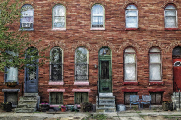 Painting - Baltimore Rowhouse - Md224442 by Dean Wittle