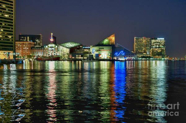 National Aquarium Photograph - Baltimore Skyline by John Greim