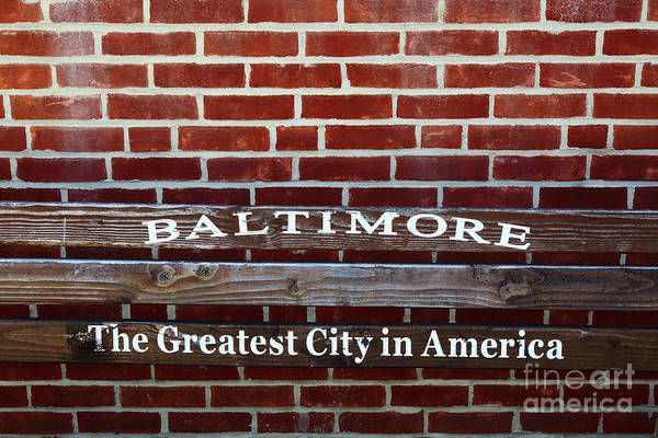 Photograph - Baltimore The Greatest City In America by James Brunker
