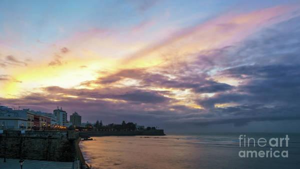 Photograph - Baluarte De La Candelaria Sunset Cadiz Spain by Pablo Avanzini