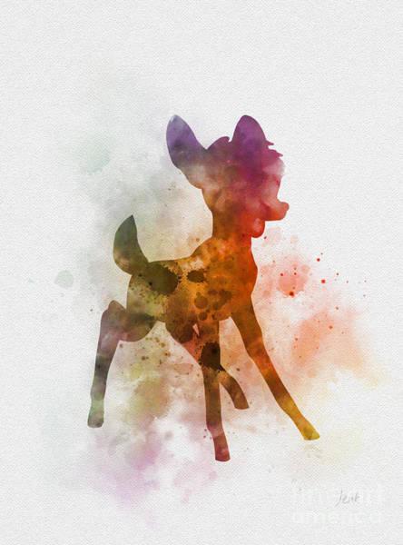 Bambi Mixed Media - Bambi by My Inspiration