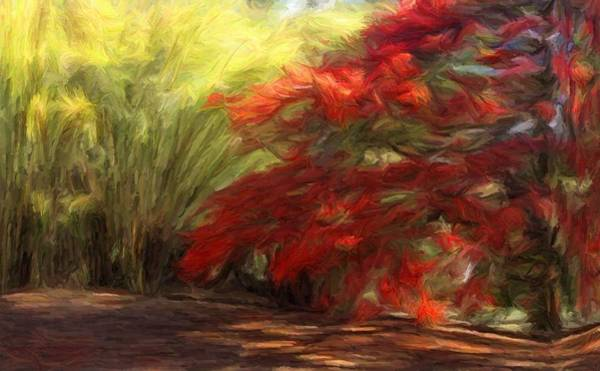 Digital Art - Bamboo And The Flamboyant by Caito Junqueira