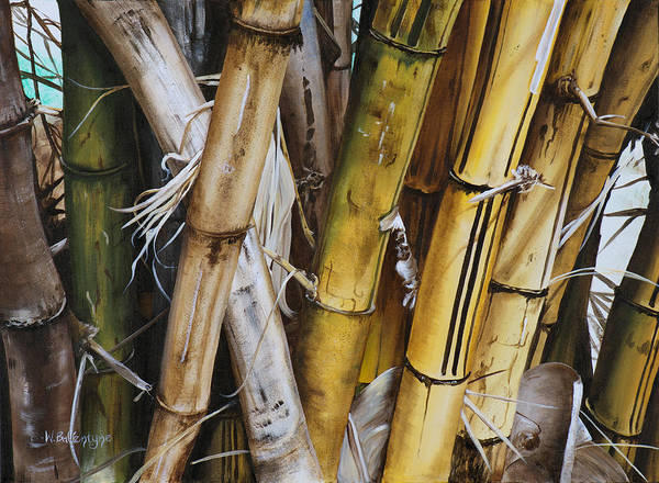 Bamboo Painting - Bamboo Cluster by Wendy Ballentyne