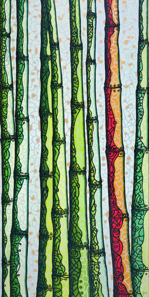 Painting - Bamboo Fling 2014a001 by Lino Vicente