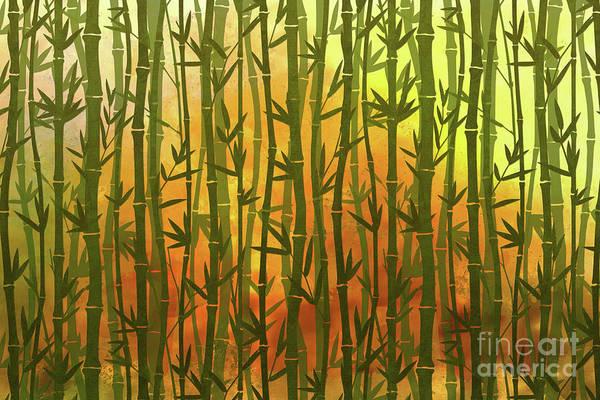 Wall Art - Digital Art - Bamboo Forest by Peter Awax