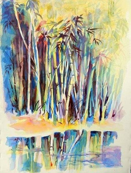 Painting - Bamboo Forest Chi by Caroline Patrick
