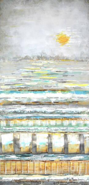 Painting - Aqua Lite Set by Kaata Mrachek