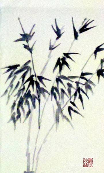 Painting - Bamboo In Black Ink by Margaret Welsh Willowsilk