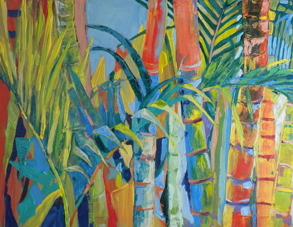 Caribbean Wall Art - Painting - Bamboo by Jan Farara
