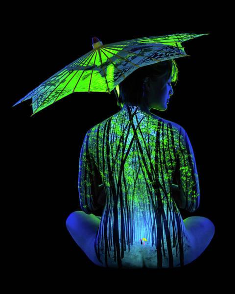 Blacklight Painting - Bamboo Mist by John Poppleton