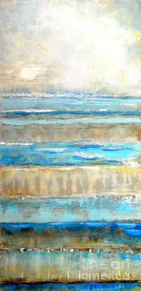 Painting - Bamboo Set Blue by Kaata Mrachek