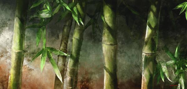 Lighting Wall Art - Mixed Media - Bamboo Stalks by Steve Goad