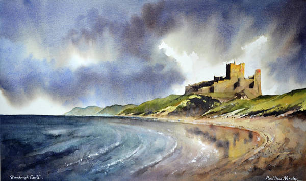 Wall Art - Painting - Bamburgh Castle by Paul Dene Marlor