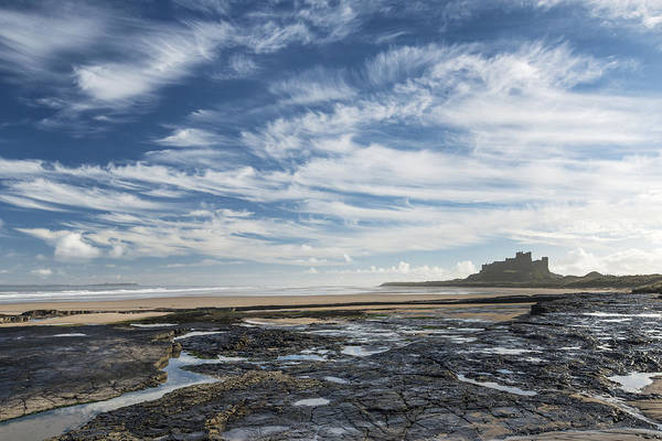 Northumbria Photograph - Bamburgh Cloudscape by David Taylor