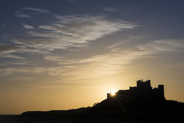 Northumbria Photograph - Bamburgh Silhouetted by David Taylor