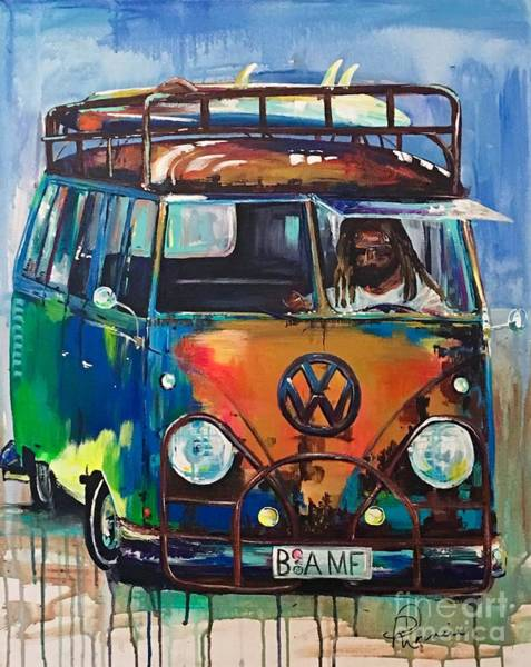 Painting - Bamf-vw Microbus by Denise Morencie