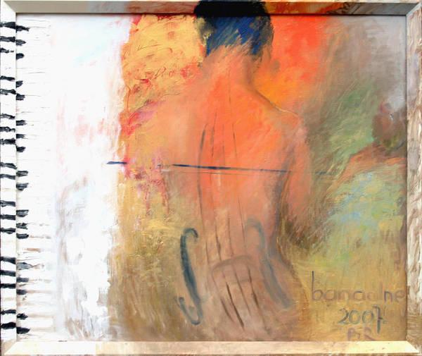 Free Jazz Painting - Banal by Piret Rohusaar