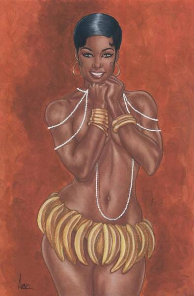Revue Wall Art - Painting - Banana Dancer by Clive ARNO