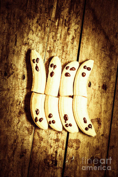 Delicious Wall Art - Photograph - Banana Ghosts Looking To Split At Halloween Party by Jorgo Photography - Wall Art Gallery