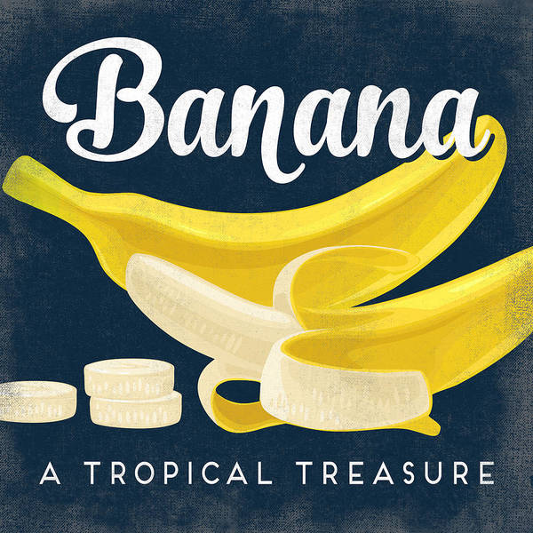 Advertisement Digital Art - Banana Vintage Fruit Label by Flo Karp