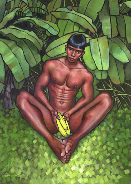 Homo Painting - Bananas by Douglas Simonson