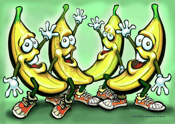 Painting - Bananas by Kevin Middleton
