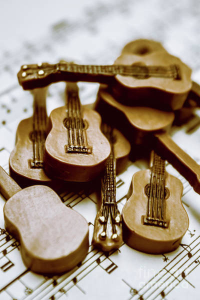 Toy Photograph - Band Of Live Acoustic Guitars by Jorgo Photography - Wall Art Gallery