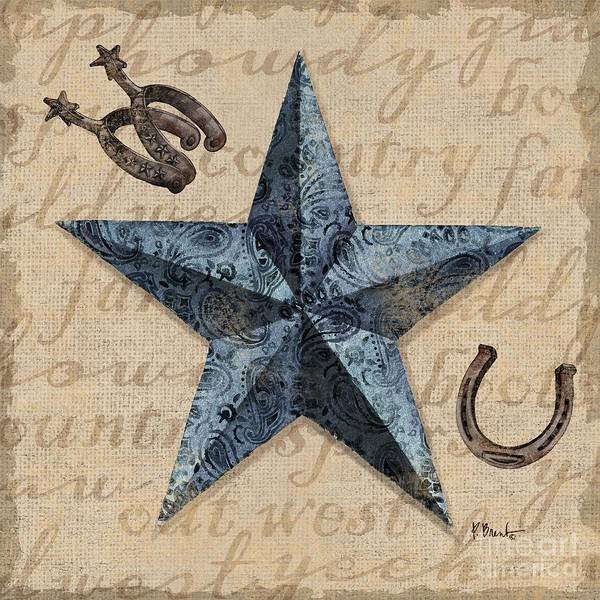 Wall Art - Painting - Bandana Barn Star II by Paul Brent