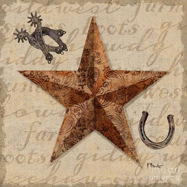 Wall Art - Painting - Bandana Barn Star Iv by Paul Brent