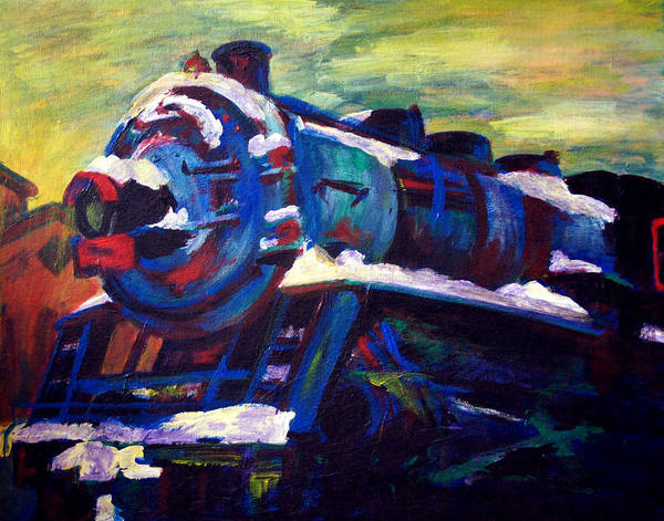 Railroad Station Painting - Bandana Square by Grace Hasbargen
