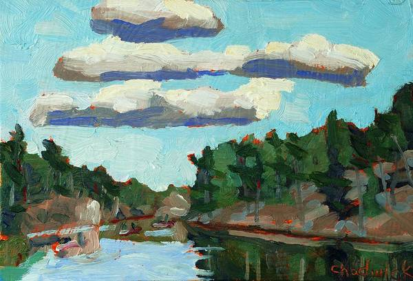 Stratocumulus Painting - Banded Stratocumulus At Sunset by Phil Chadwick