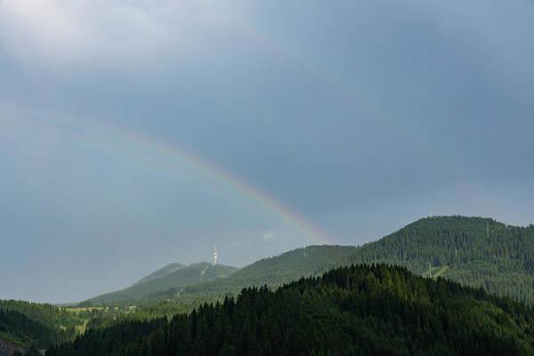 Photograph - Bands And Rainbows - Lush Mountains After A Summer Rain by Georgia Mizuleva