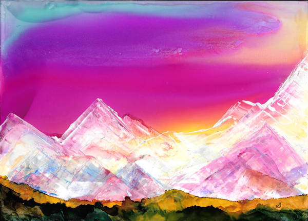 Painting - Banff At Dusk by Eli Tynan