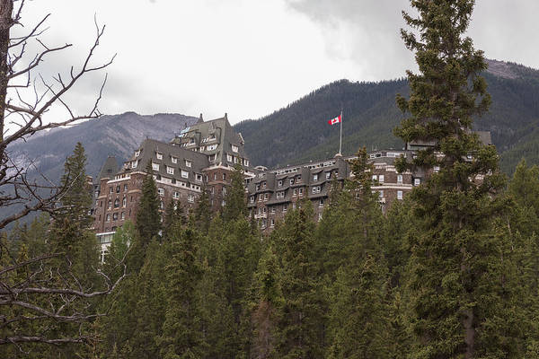 Photograph - Banff Fairmont by John Johnson