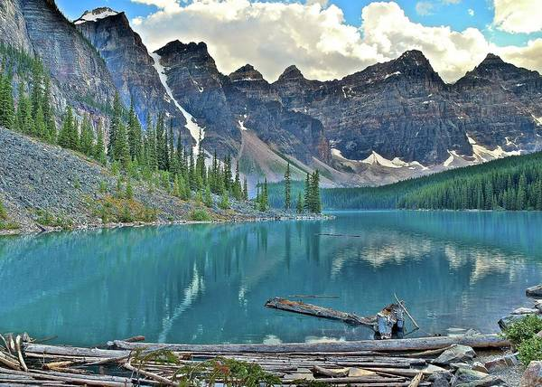 Wall Art - Photograph - Banff Moraine Scenic View by Frozen in Time Fine Art Photography