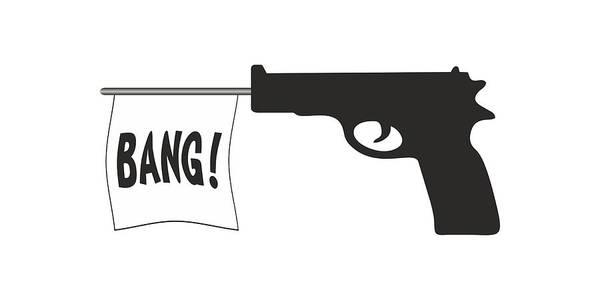 Digital Art - Bang by Ericamaxine Price