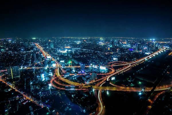 Hongkong Photograph - Bangkok Cityscape by Jijo George