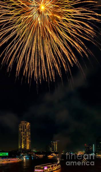 Photograph - Bangkok Fireworks by Adrian Evans