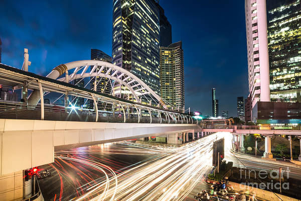 Photograph - Bangkok Night Rush  by Didier Marti