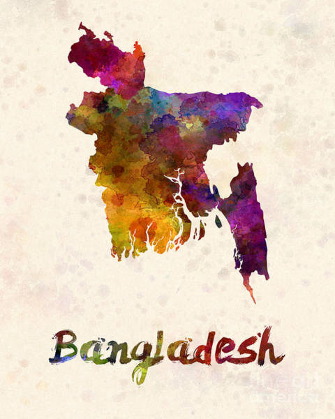 Bangladesh Painting - Bangladesh In Watercolor by Pablo Romero