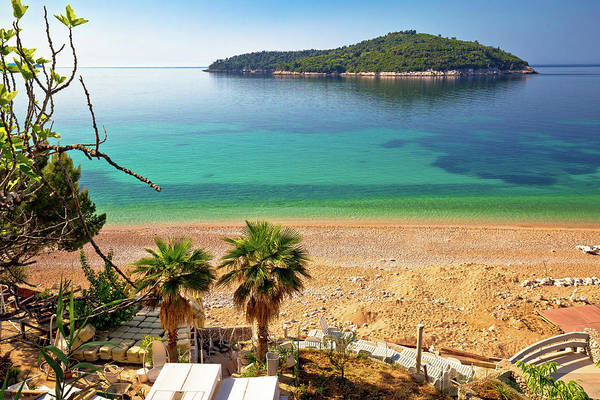 Lokrum Photograph - Banje Beach And Lokrum Island In Dubrovnik by Brch Photography