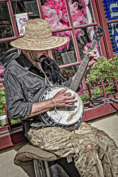 Photograph - Banjo Man In Color by Jim Thompson