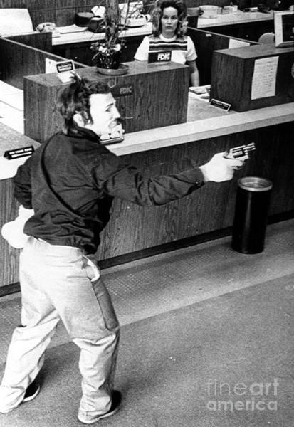 Photograph - Bank Holdup, 1973 by Granger